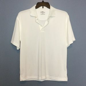 PGA Tour M Golf Polo Shirt White Short Sleeve EUC